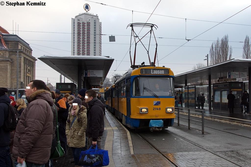 T4d M1 2148 Lvb Leipziger Verkehrsbetriebe Auf Der Linie 1 Von