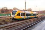 rathenow/530676/vt-646042-646-042-1-odeg-- VT 646.042 (646 042-1) ODEG - Ostdeutsche Eisenbahn GmbH, wartete in Rathenow auf neue Einsätze. 04.12.2016